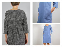 Schnittreif Frau Yuma Kleid mit Rückenfalte