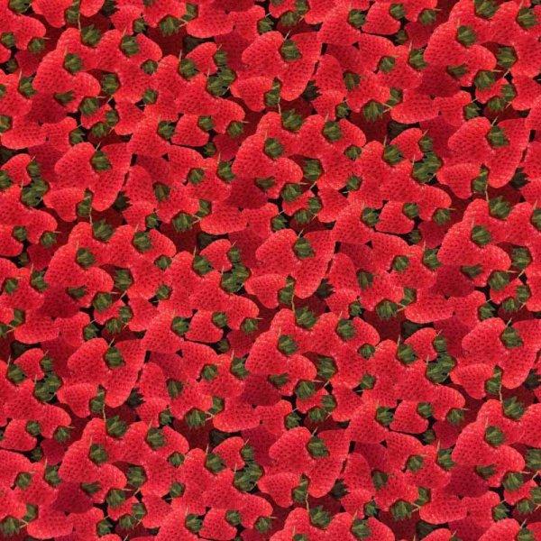 BW-Druck Yummy Food - Erdbeeren
