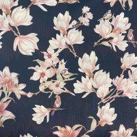 BW-Satin Lilie jeansblau