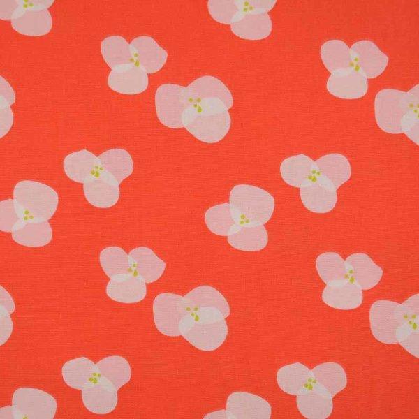 Canvas Tillisy bedruckt lachsorange Blüte