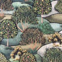 Canvas naive Bäume Tiffi