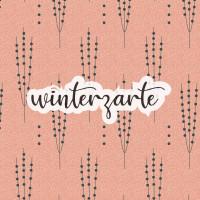 French Terry Lillestoff lachs stilisierte Zweige Winterzarte