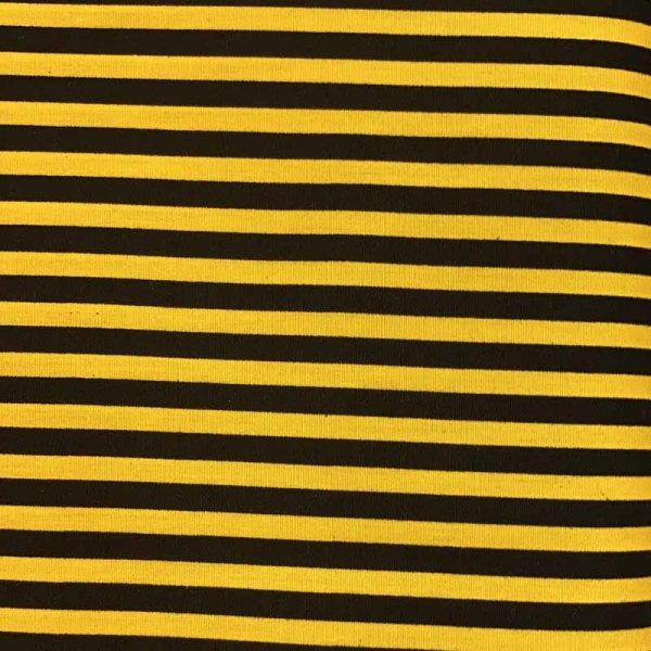 BW-Druck schwarz-gelb Streifen
