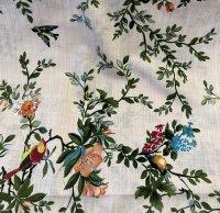 Viskose lachs Blumen Vögel