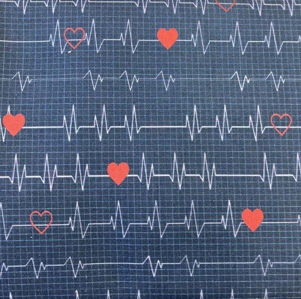 BW-Druck Herzschlag dunkelblau