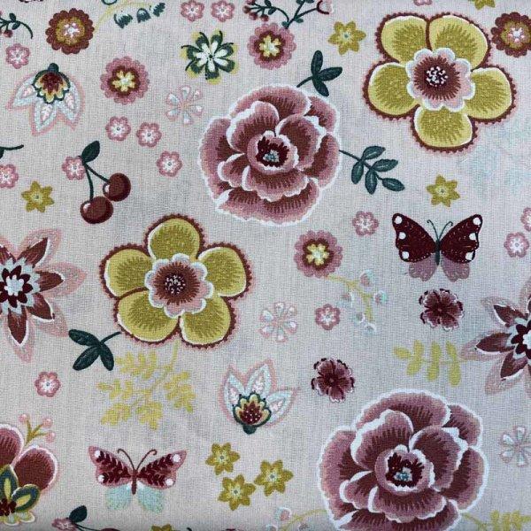 BW-Druck Blumen lachs