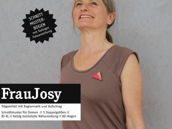 Schnittreif Frau Josy Raglanshirt mit Umschlagärmel
