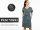 Schnittreif Frau Vicky lockeres Kleid mit V-Ausschnitt
