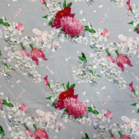 Jersey Gitti grau Chrysantheme