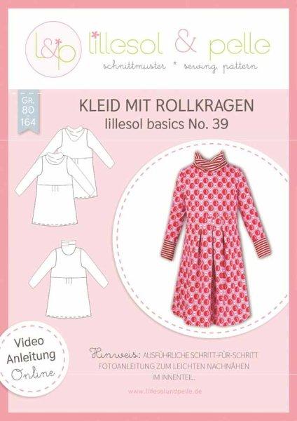 Lillesol&Pelle basics No. 39 Kinder Kleid mit Rollkragen Gr. 80-164