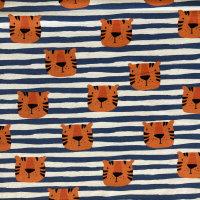 Jersey Tigerköpfe blau-weiß gestreift Frl. v....