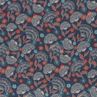 Viskose Mable by Jolijou jeansblau Ginkgo
