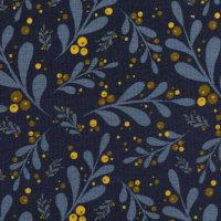 Jersey dunkelblau Blätter Beeren senf Lovely Garden...