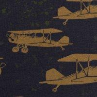 French Terry geraut Joko dunkelblau Flugzeuge