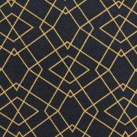 Jersey schwarz senf Geometrische Muster Klaas