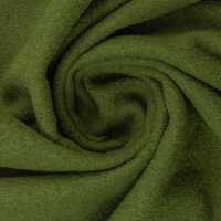 Walk/gekochte Wolle olivgrün