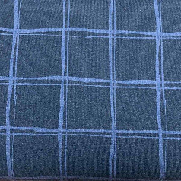 French Terry Jills Check dunkelblau Karo