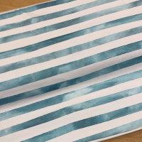 Jersey Lillestoff Aquarellringel blau