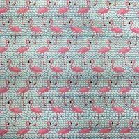 BW-Druck Flamingos Türkis