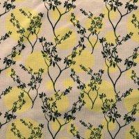 Jersey lachs Blumen gelbe Punkte