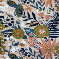 Jersey Käselotti - lachs Blumen