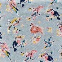 Viskose Flamingos hellblau