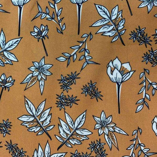 Viskose senf Blumen mittelgroß