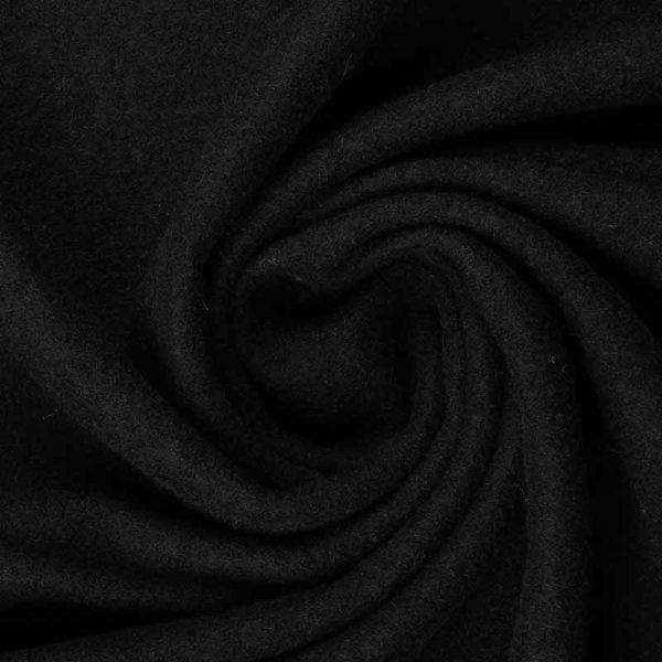 Walk/gekochte Wolle schwarz